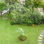 Garten sehr gepflegt