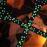 specchio con lucine sul soffitto