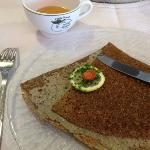 galette rillettes de sardine poivre vert - original / savoureux/ bien présenté