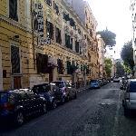 Rome- Street entrance to Htl.Select Garden