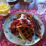 Wonderful waffle breakfast!