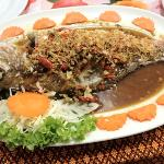 Whole redfish Thai style