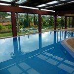 Inddor-Pool mit geöffnetem Dach