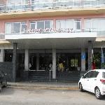 entrance to aparthotel playamar