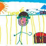 Il disegno del piccolo artista
