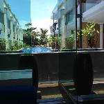 Pool view from the lobby