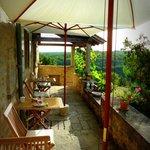 Terrasse avec vue sur le Quercy