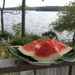 Greeted with watermelon