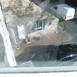 This is the view of the kitchen from another bedroom window.
