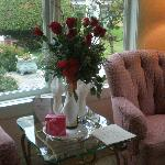 25th Wedding Anniversary. Roses and chocolate truffles in room when we arrived.
