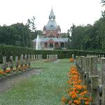 Szczecin, Central Cemetery - polish war-time quarter with chapel in the background