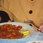 Ziegeunerschnitzel ohne Beilagensalat und ohne Pommes