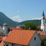 View from room 5 (Stara Loka castle and church)