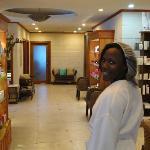 at the spa