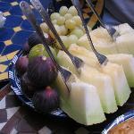 Fruits de saison au petit déjeuner
