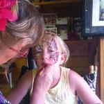 fantastic face painting. reasonably priced too at £5