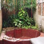 Outdoor tub in the Rose Suite