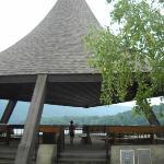 Pagoda at dam