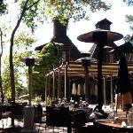 Munsters backdrop to great food and delightful garden setting