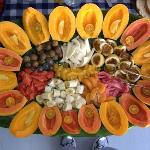 Fresh tropical fruit at breakfast at Shipman House B&B: AMAZING!