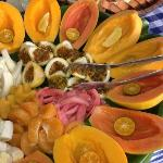 Close-up of fresh tropical fruit at Shipman B&B...addicting!