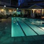 Hotel Pool at night- closes at 10-no lifeguard