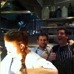 The happy gang hard at work in the Roseleaf kitchen