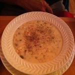 Corn Chowder (photo was taken after my husband added the pepper)-couldn't tell it wasn't made wi