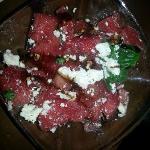 feta watermelon and basil sald