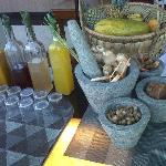 Jamu Corner @ Breakfast Serving Table