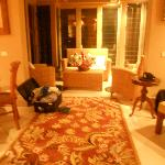 The living room in our Streamside Villa