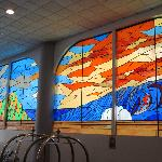 Stained Glass Windows in Lobby