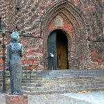Entrance to Church of St. Mary in Helsingborg, Sweden