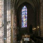 Stained glass window in the Church of St. Mary in Helsingborg