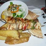 Greek chicken kebab