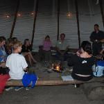 Hay ride with fire, sing along and roasting marshmelloes.