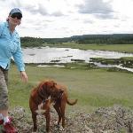 Hiking the marsh area, beautiful!
