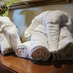 Towel animal sculptures