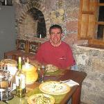 Una comida italiana deliciosa