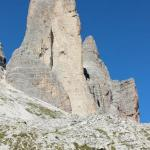 one of the bold face lime stones of Tre Cime