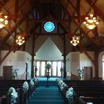 The chapel is beautiful inside!