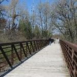 Strolling over the bridge