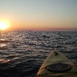 Sunset from kayak