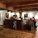 front desk, formal dining room beyond