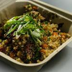 Quinoa Pilaf - Alaskan reindeer sausage, garden vegetables, fresh herbs