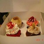 Pack de 4 diferentes cupcakes