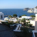 Veduta di Cala Feola dall'Hotel