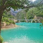 Gorge du Verdon entering lake