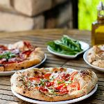 Wood Burning Oven Baked Pizzas