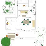 Le plan des cabanes
